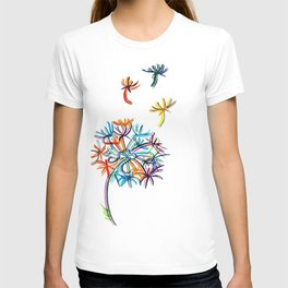 Popart dandelion T-shirt