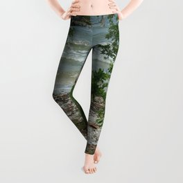 Lemon Bay Waves DPG160517b Leggings