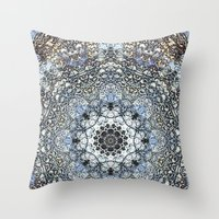 kaleidoscope Throw Pillows featuring Kaleidoscope by Tina Sieben