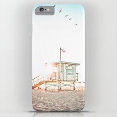 Pelicans Over the 10th Street Lifeguard Tower iPhone 6s Plus Slim Case