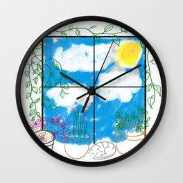 The Plant Window  Wall Clock