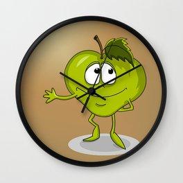 Happy apple Wall Clock