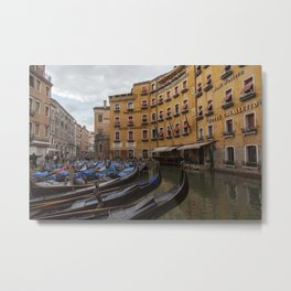 Venice. The rain Metal Print