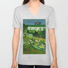 Daubigny's Garden by Vincent Van Gogh Unisex V-Neck