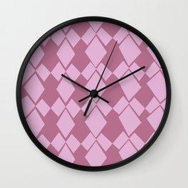 Geometric Diamonds Design (Dusty Rose) Wall Clock