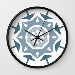 Geometric Arrow and Diamonds in Blues Wall Clock