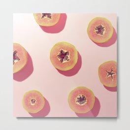 #01_Papaya in pink Metal Print
