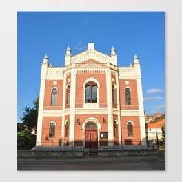synagogue building sibiu city romania architecture landmark Canvas Print