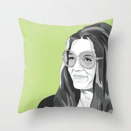 Gloria Steinem Throw Pillow