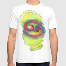 Cancer Flow White Mens Fitted Tee MEDIUM