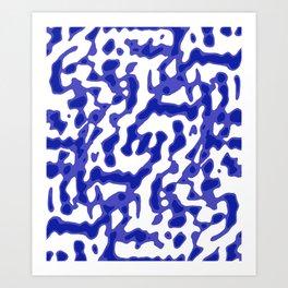 Bright Abstract Camo Pattern Art Print