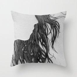 Hair in Profile Throw Pillow