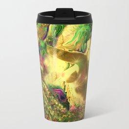 Nude mermaid & jelly fish ladykashmir Travel Mug