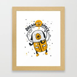 Dream in space Framed Art Print