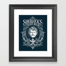 Sherlock's Shave Balm Framed Art Print