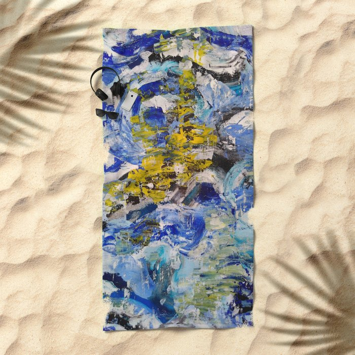 Abstract painting 5 Beach Towel