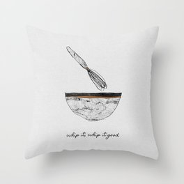 Whip It Good, Music Quote Throw Pillow