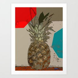 PINEAPPLE IN COLOR Art Print