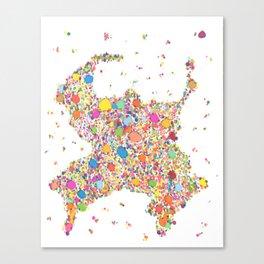 "Sumo Cluster (""Negative"") Canvas Print"