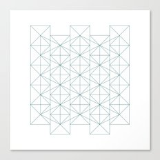 #374 Constructivist's wallpaper – Geometry Daily Canvas Print