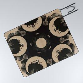 Ouija Wheel of the Moon - Beyond the Veil Picnic Blanket