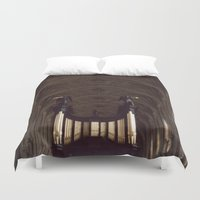 college Duvet Covers featuring King's College Cambridge by David Hohmann