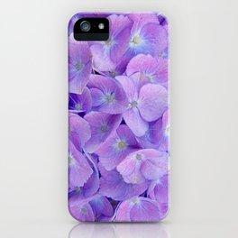 Hydrangea lilac iPhone Case
