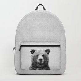 Grizzly Bear - Black & White Backpack