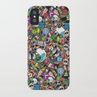 sticker iPhone & iPod Cases featuring Sticker Bomb by thickblackoutline