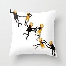 Lindy Hop Dancers Throw Pillow