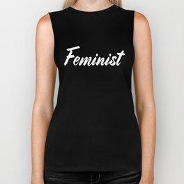 Feminist (on black) Biker Tank