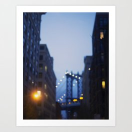 Manhattan Bridge at Night II Art Print