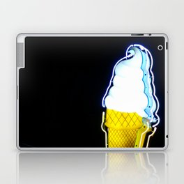 Ice Cream Cone Neon Sign Laptop & iPad Skin