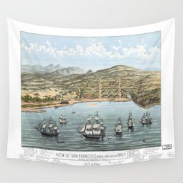 SAN FRANCISCO CALIFORNIA city old map Father Day art print poster Wall Tapestry