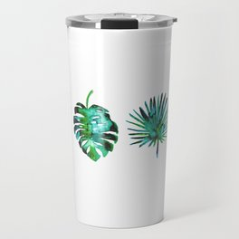Four Tropical Leaves Travel Mug