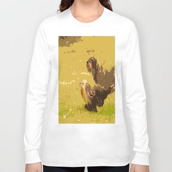 Dog's Running Race Long Sleeve T-shirt