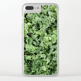 Healthy shredded kale Clear iPhone Case