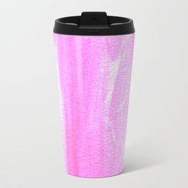 pink watercolor Travel Mug