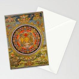 Manjushri Meditation Gold Thangka Mandala Stationery Cards