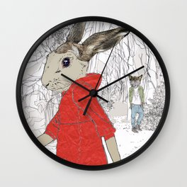 A Wolf met her 2 Wall Clock