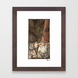 Gnome Engagement Framed Art Print