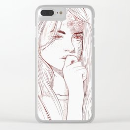 Thoughts Clear iPhone Case