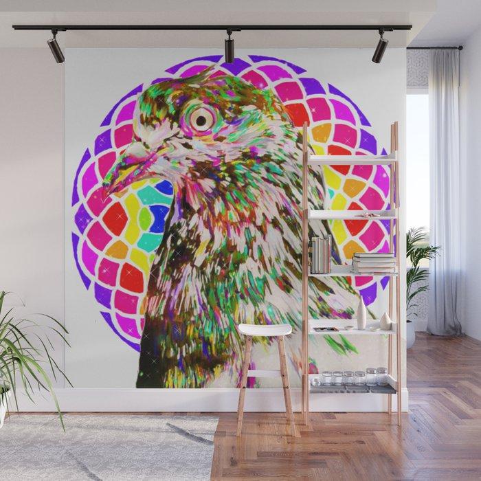 Pigeon Mandala Wall Mural By Artbysavi