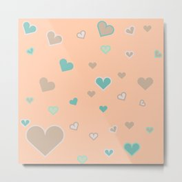 Love Mint and Peaches Metal Print