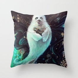 Selkie Pup Throw Pillow