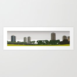 The towers blocks are coming! Art Print
