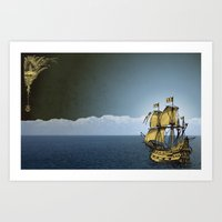 Ships That Pass In The Night Art Print