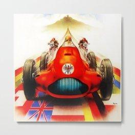 1951 Internationales ADAC Eifelrennen Grand Prix Motor Racing Nurburgring Vintage Poster Metal Print