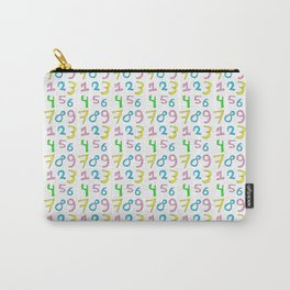number 1- count,math,arithmetic,calculation,digit,numerical,child,school Carry-All Pouch