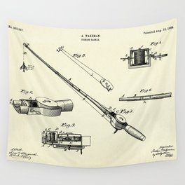 Fishing Tackle-1884 Wall Tapestry